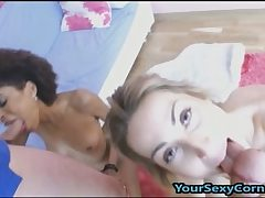 Bi-racial 4some Dual Duo Smashing Together!