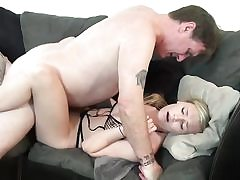 Super-naughty ash-blonde woman creampied by stepparent