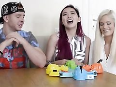 3 superstars playing games greedy hippos