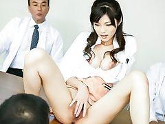 Sara Yurikawa likes a harsh office gangbang